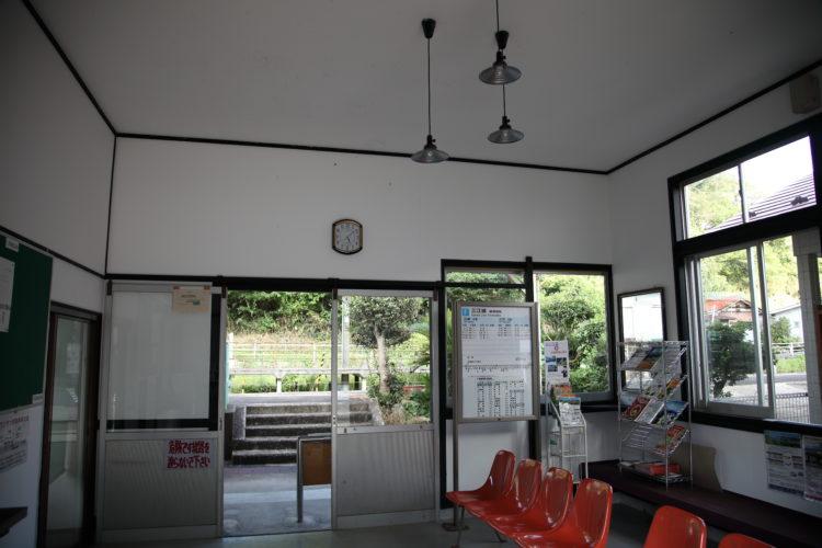 三江線浜原駅駅舎内
