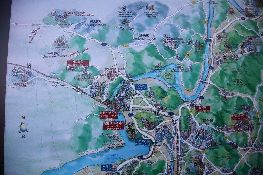 臨津江周辺地図