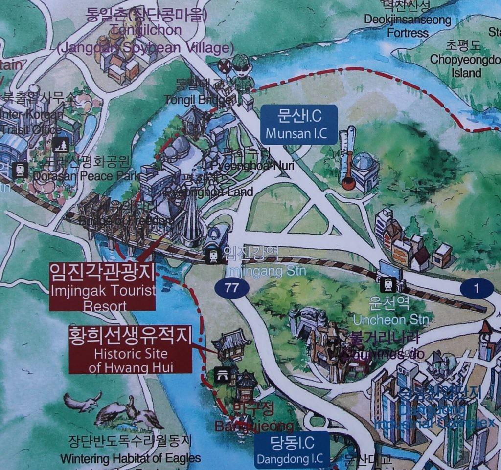 臨津江周辺地図拡大