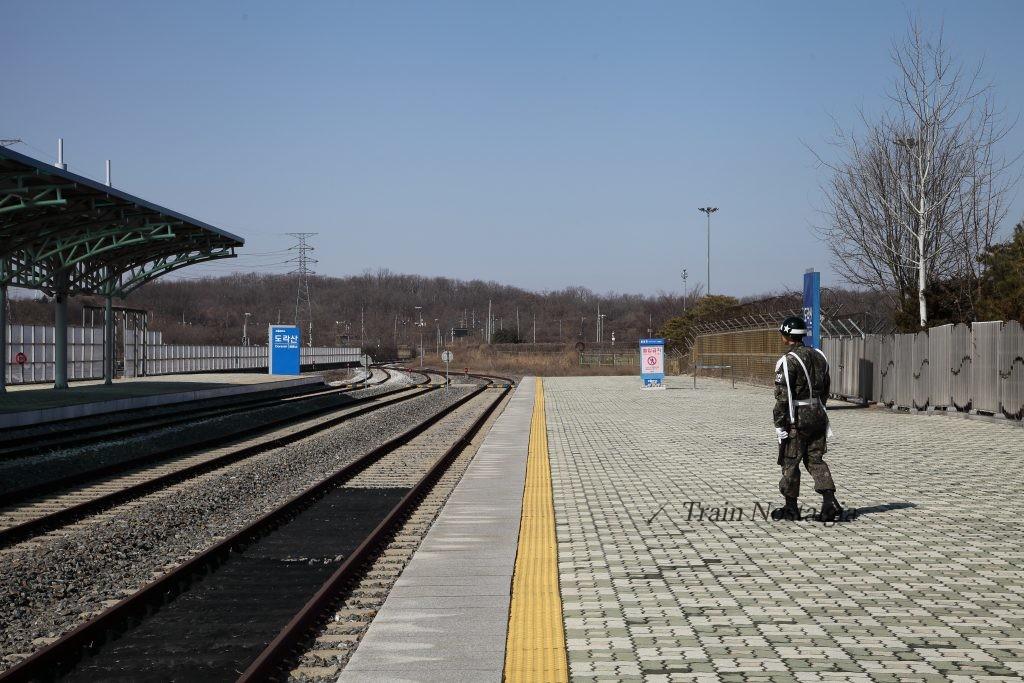 京義線都羅山駅、北朝鮮方面