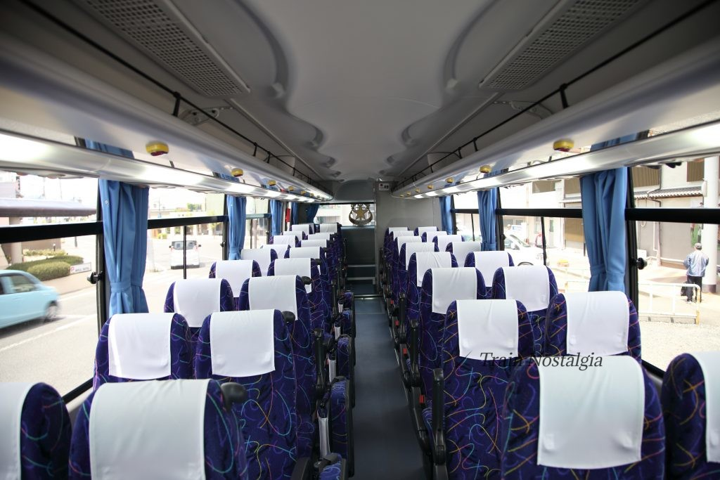 常磐線代行バス車内