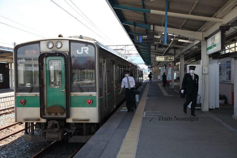 常磐線相馬駅区間運転列車ホーム