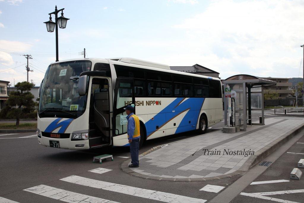 常磐線亘理駅代行バス停
