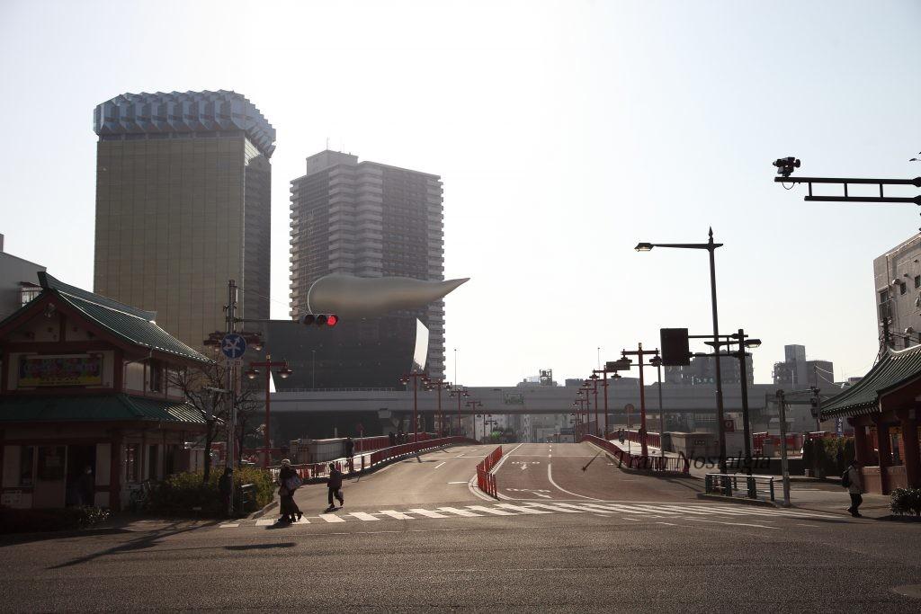 東武鉄道浅草駅駅前朝風景