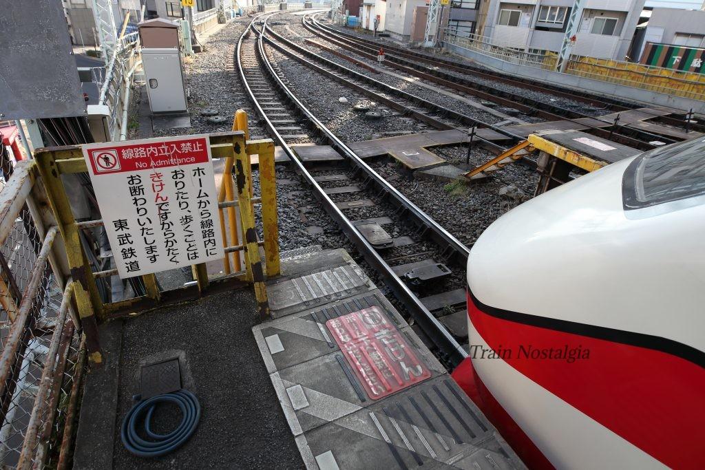 東武鉄道浅草駅ホーム先端1