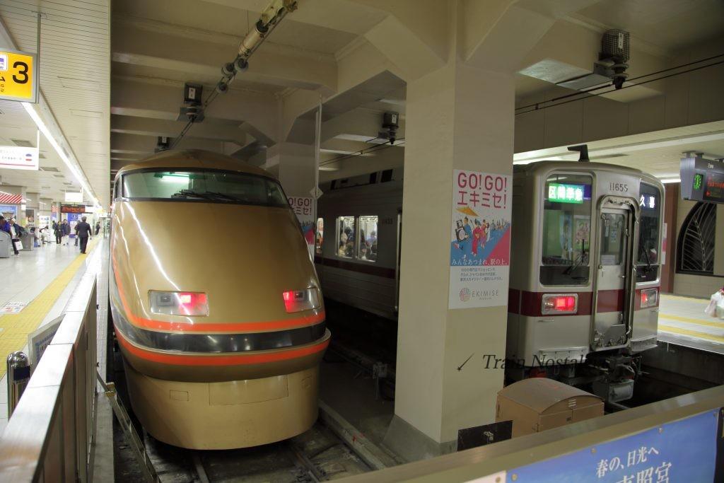 東武鉄道浅草駅スペーシア日光詣