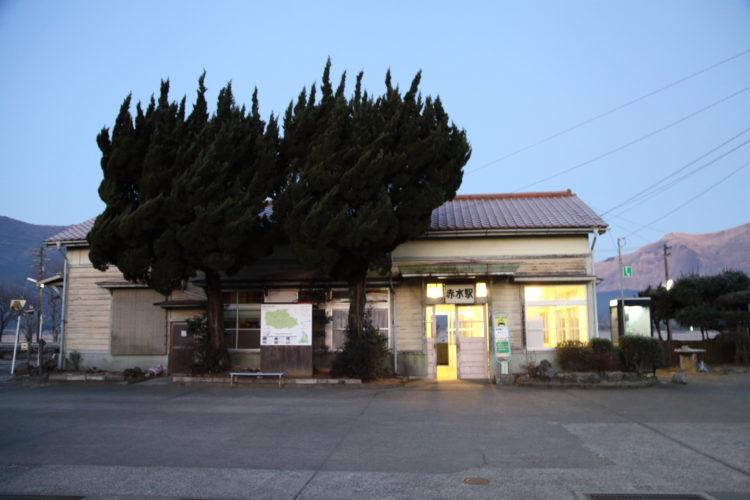 豊肥本線赤水駅駅舎
