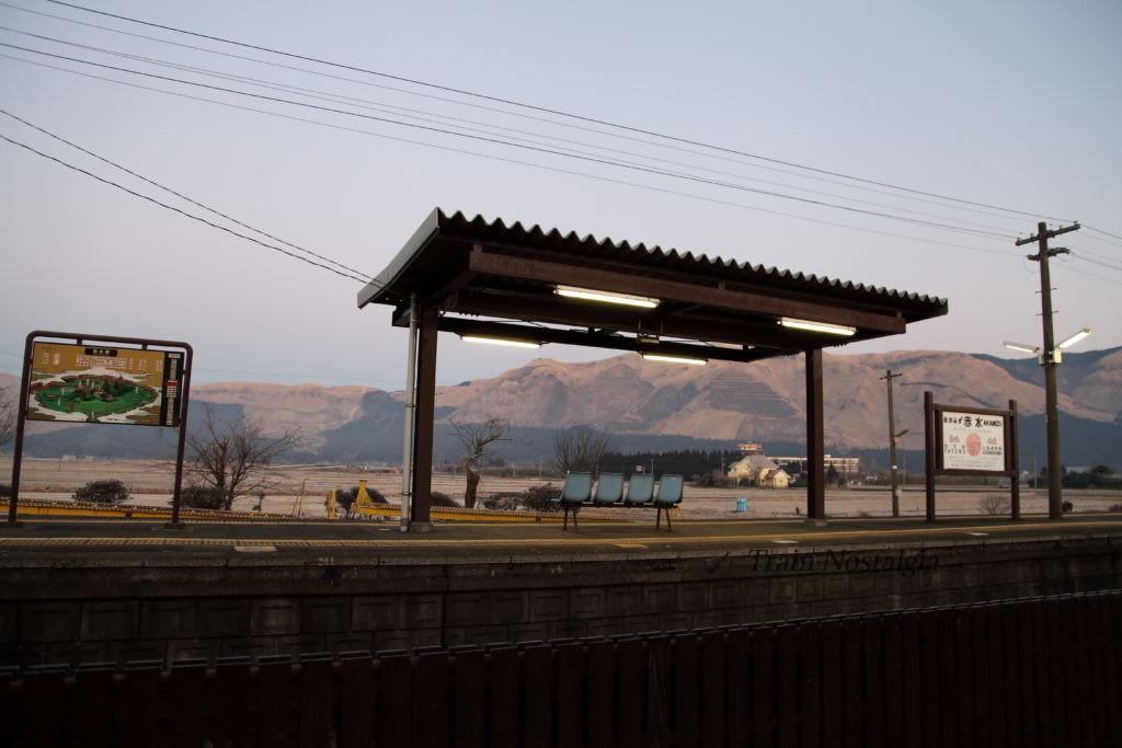 豊肥本線赤水駅ホーム
