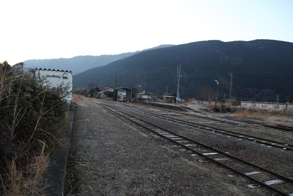 豊肥本線立野駅終端部分