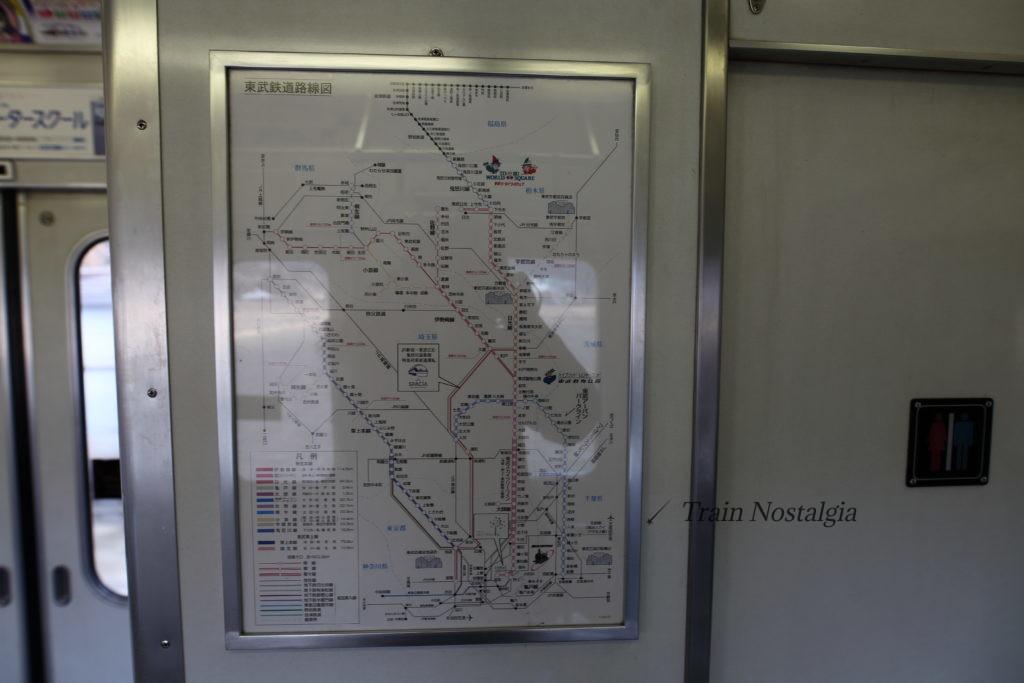 東武鉄道6050系全路線図案内