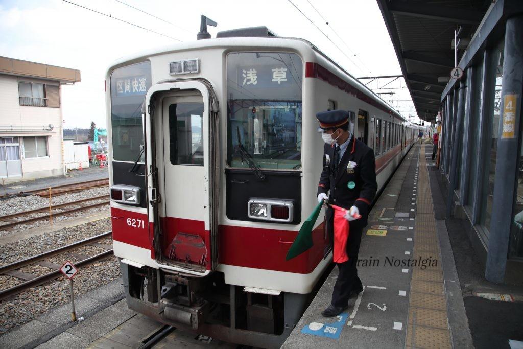 東武鉄道下今市駅6050系併結準備