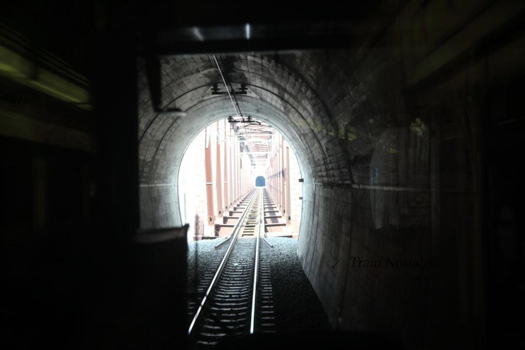 野岩鉄道会津鬼怒川線前面トンネル