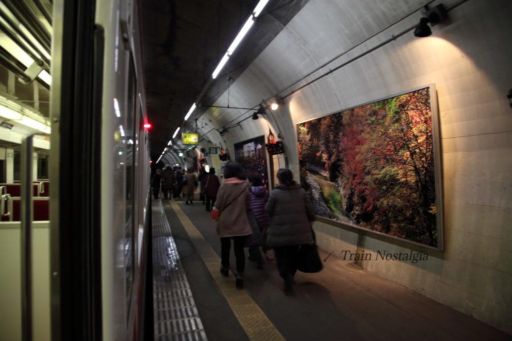 野岩鉄道湯川西温泉列車にて