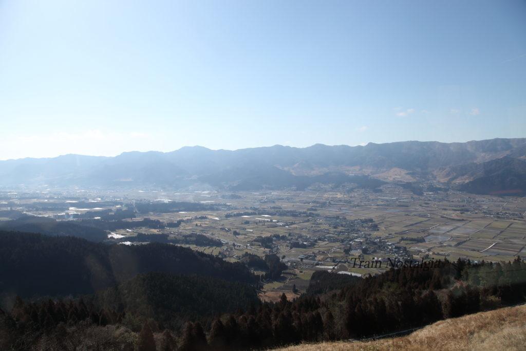 九州産交バス阿蘇南登山線眺め