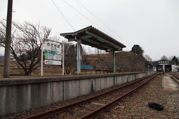 高千穂鉄道高千穂駅ホーム