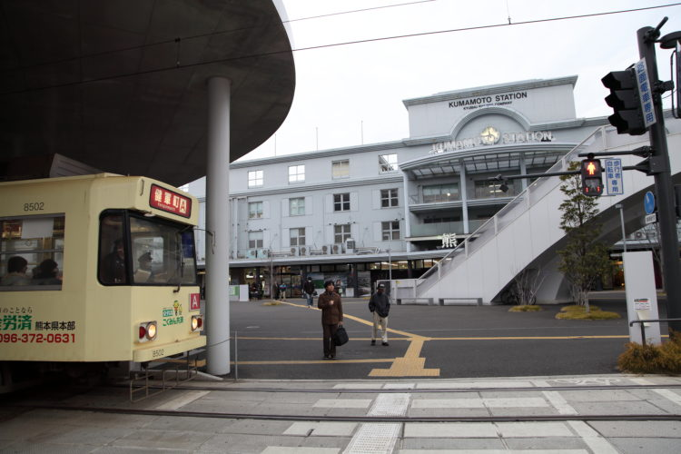 熊本駅と熊本市電