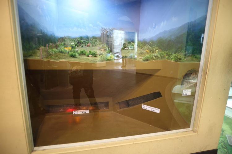 韓国第3トンネル断面図