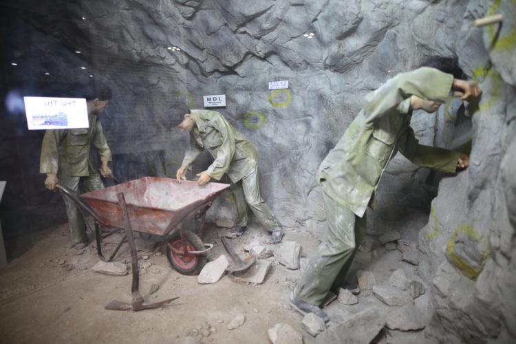 第3トンネル掘削再現模型