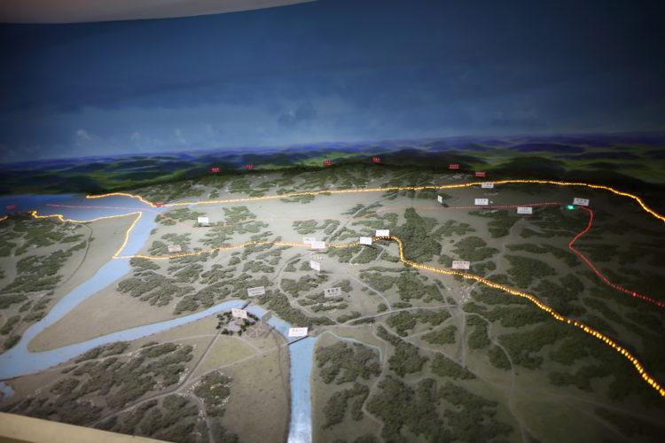 朝鮮半島軍事境界線地図