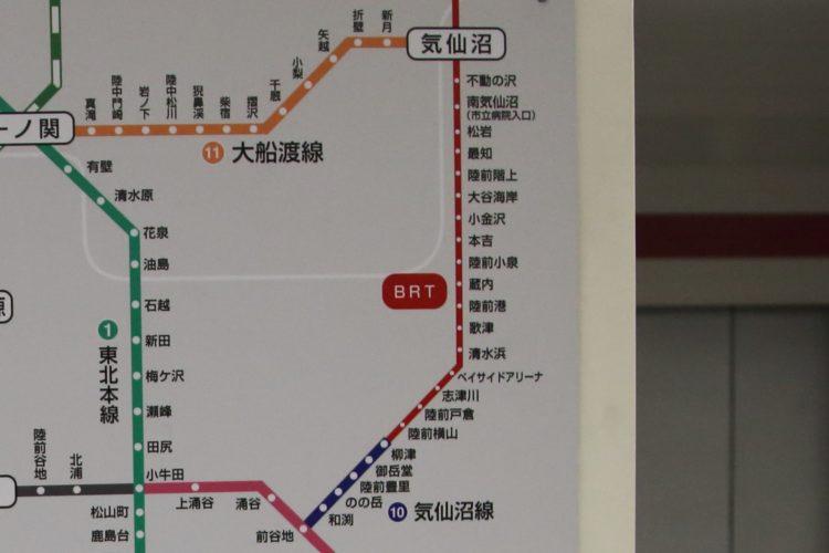 気仙沼線路線図
