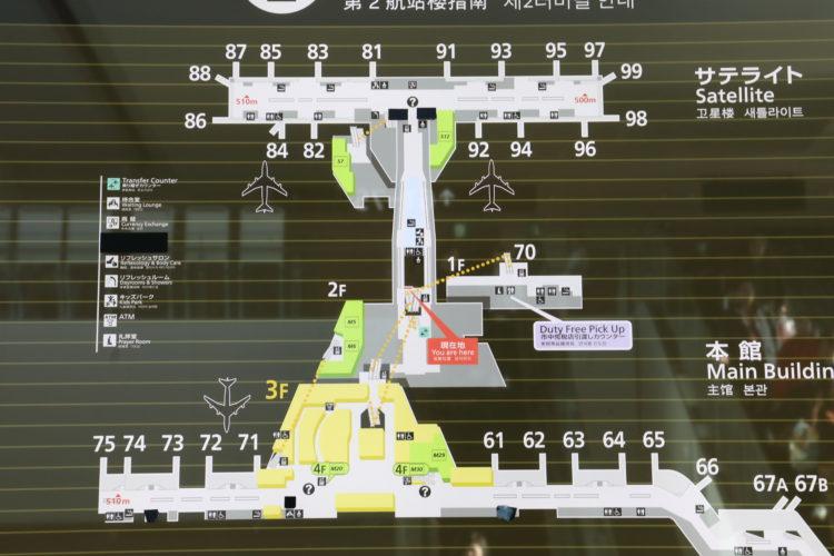 成田国際空港第2旅客ターミナルサテライト地図