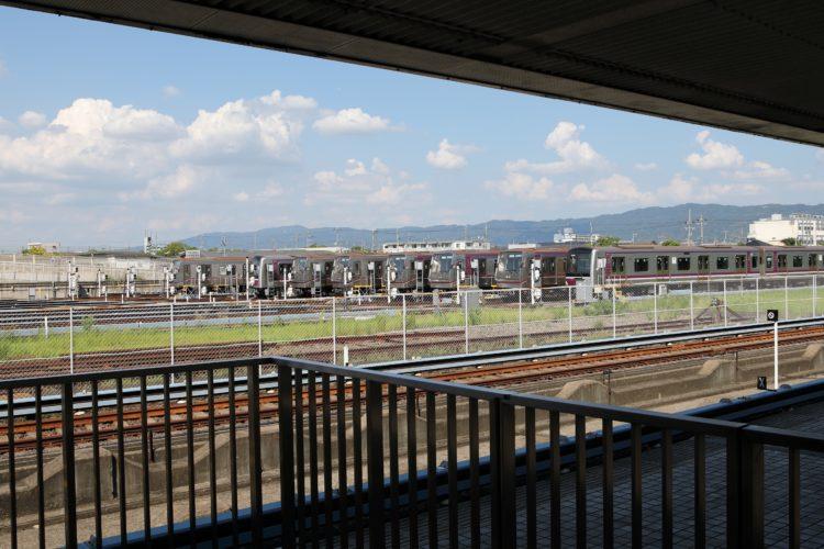 谷町線八尾南駅車庫