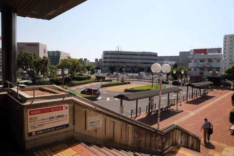 谷町線八尾南駅ロータリー