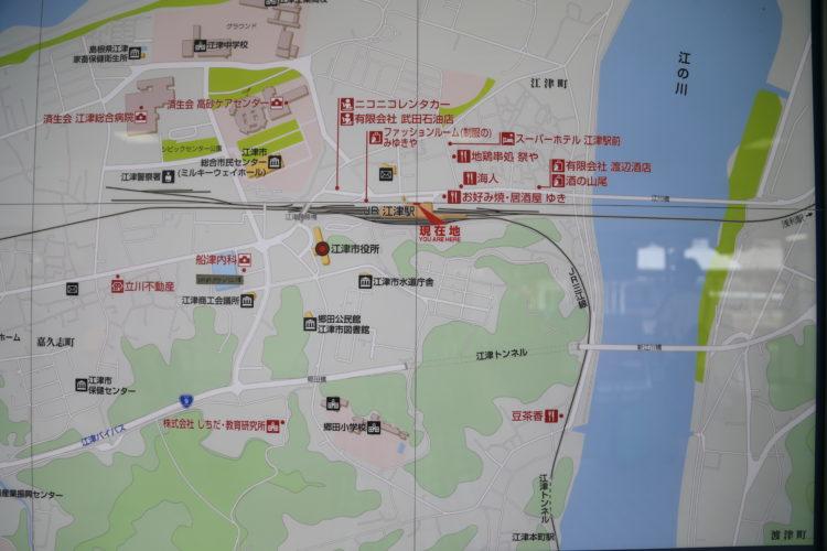 三江線江津駅周辺地図