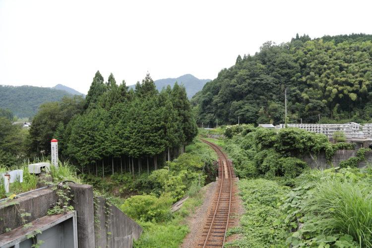 三江線粕淵駅から浜原駅沿線