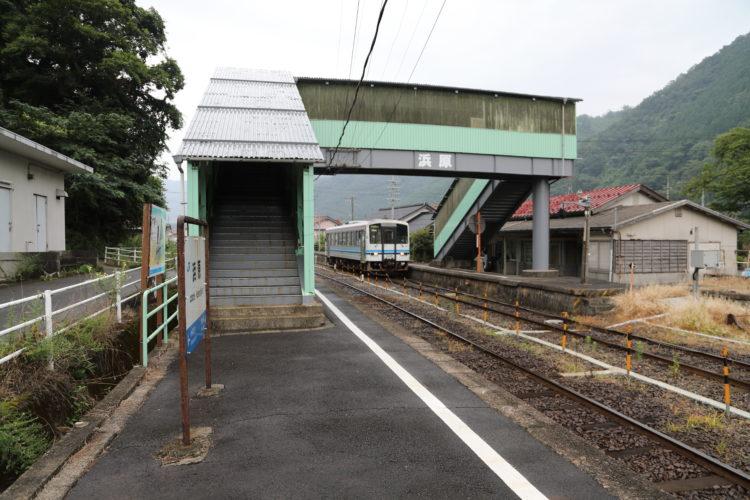 三江線浜原駅ホーム