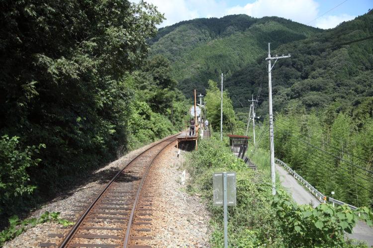 三江線長谷駅前面展望