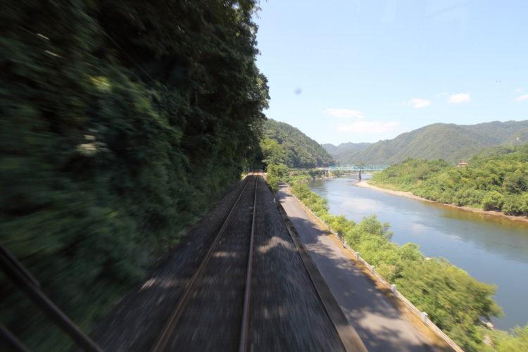 三江線竹駅付近