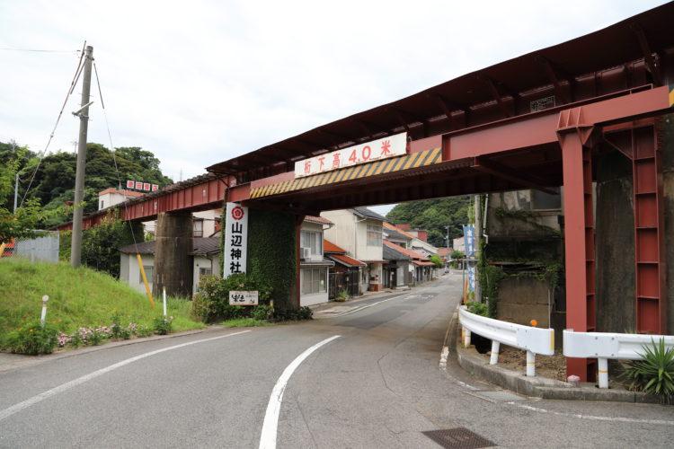 三江線橋梁と江津旧市街