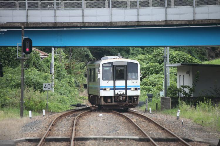 三江線石見川本駅入線風景3