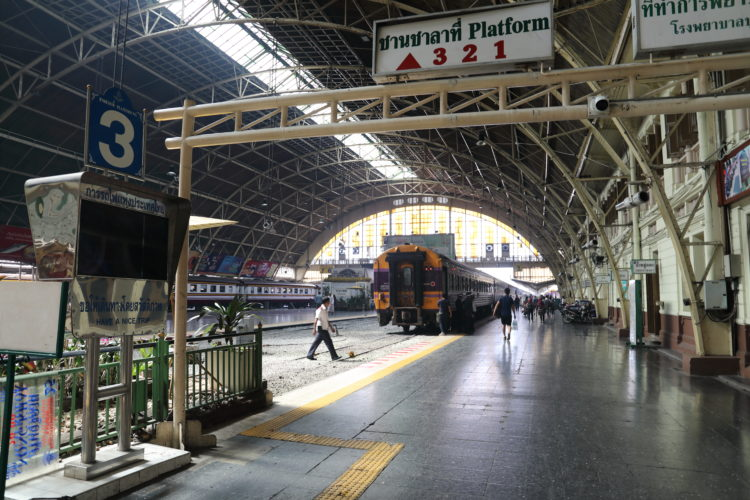 タイ国鉄バンコク駅3番線