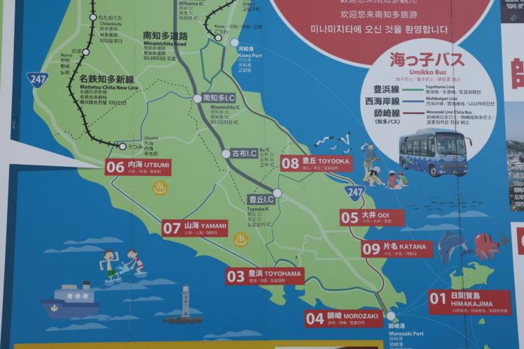 名鉄知多新線内海駅周辺地図