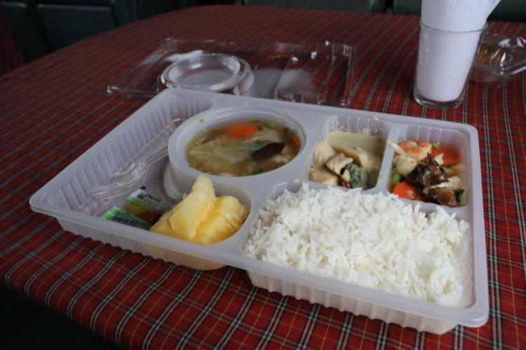 タイ国鉄スンガイコーロック行き食堂車献立