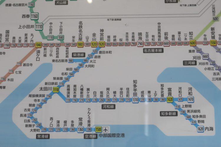 名古屋鉄道知多半島部分