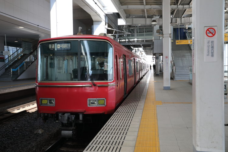 名古屋鉄道常滑線太田川駅ホーム