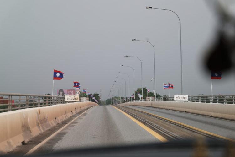 タイ=ラオス友好橋国境付近