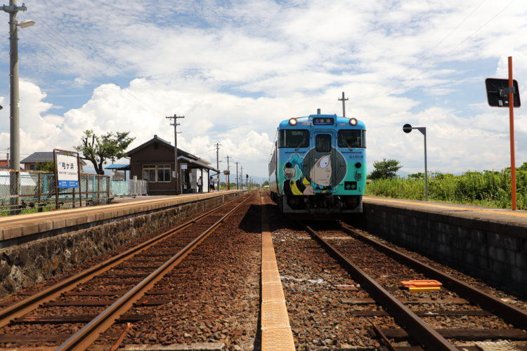 境線弓ヶ浜駅と鬼太郎列車