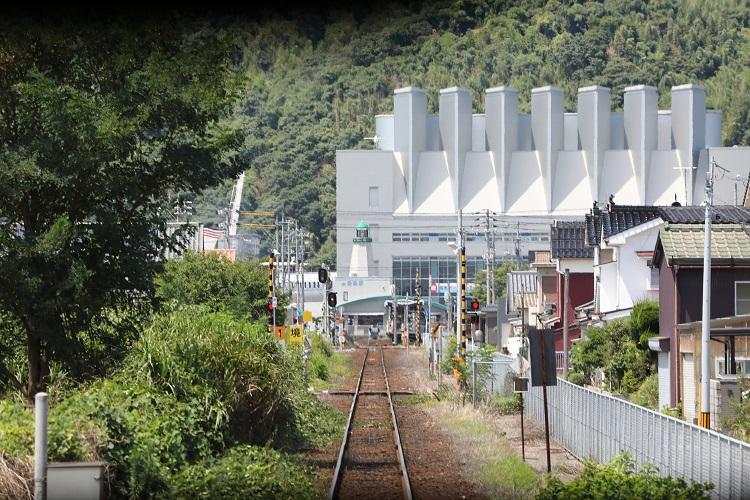境線前面展望馬場崎町駅