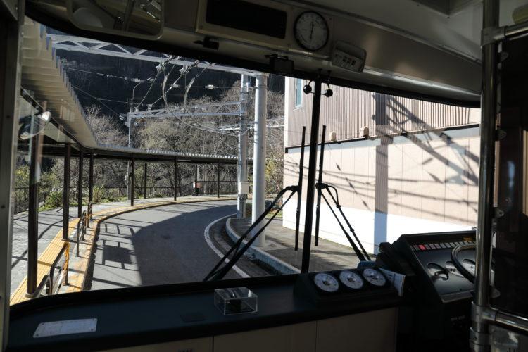 関電トロリーバス扇沢駅トロリーバス前面展望