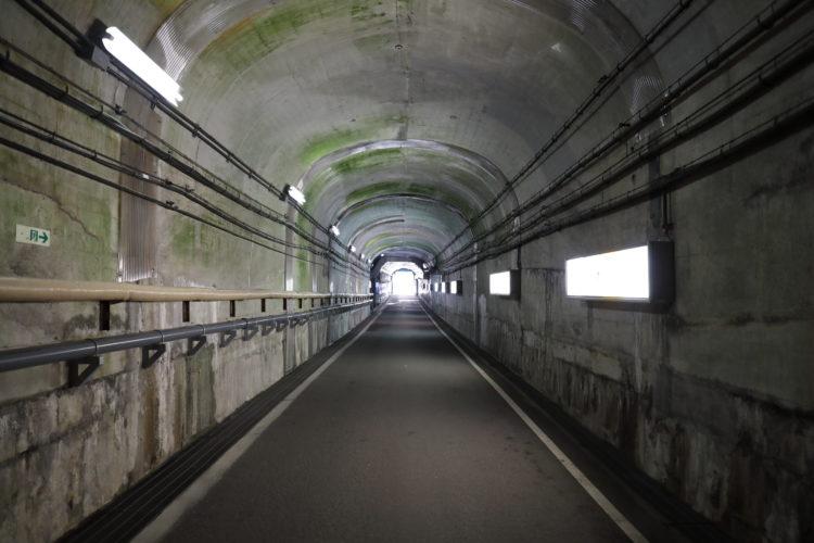 関電トロリーバス黒部ダム駅トンネル