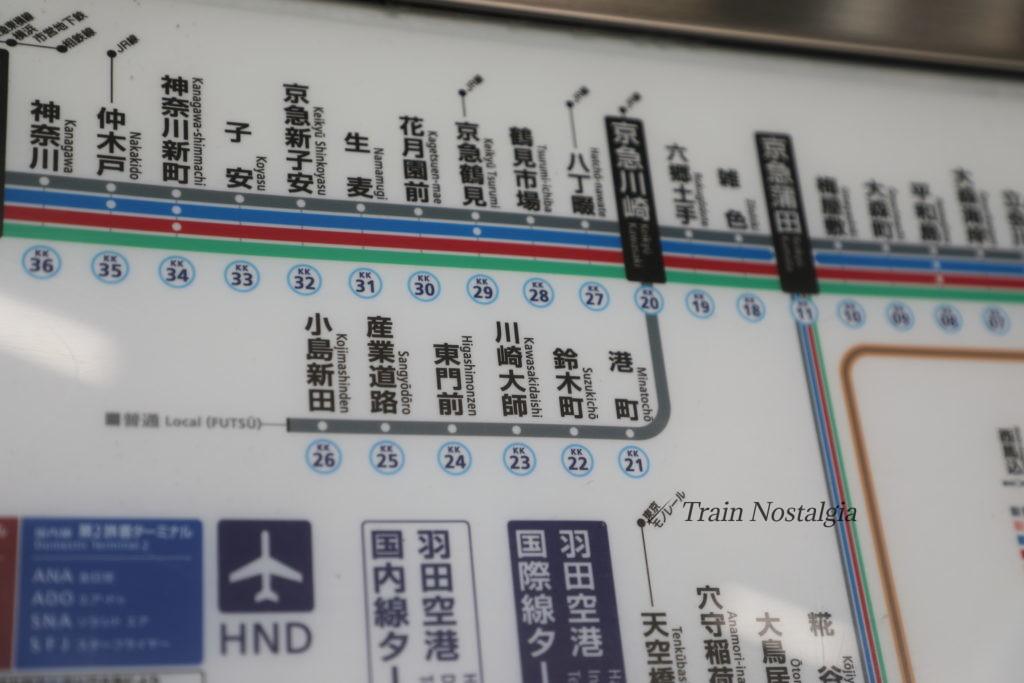 京急大師線路線図