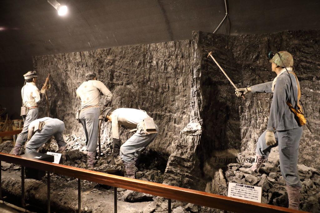 夕張市石炭博物館の作業員展示