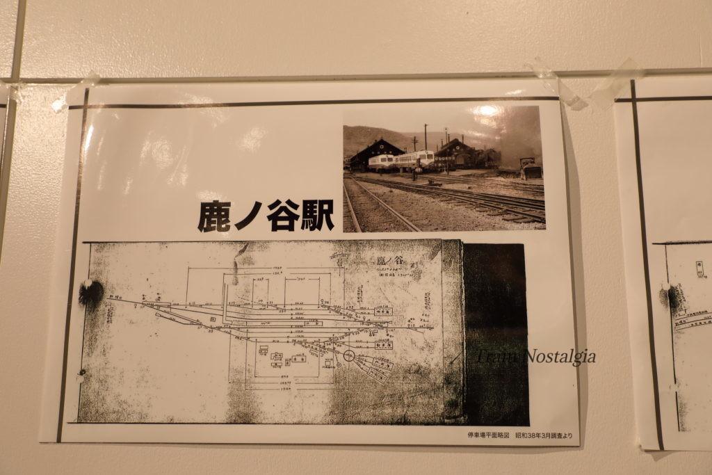 夕張鉄道鹿ノ谷駅構内図