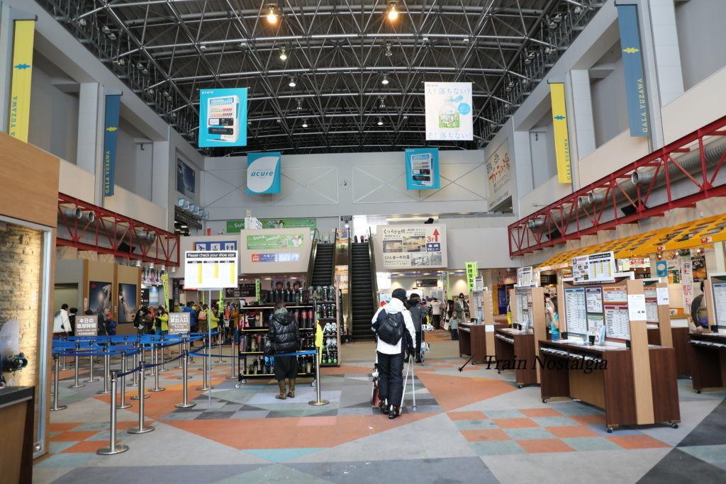 ガーラ湯沢スキー場カワバンカコンコース