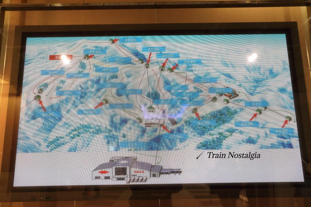 ガーラ湯沢スキー場案内図