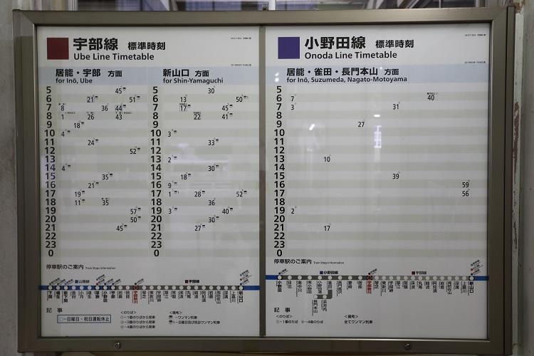宇部新川駅時刻表